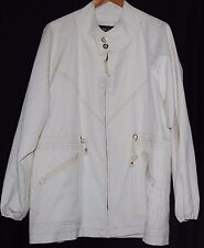 Vintage John Weitz Womens Yachting Boating Sailor Jacket White L 70s Coat