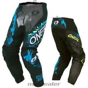 O'Neal Element Villain grau Hose  mx motocross Enduro Quad Crosshose BMX