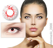 Farbige Crazy Karneval Halloween Kontaktlinsen Contact lenses BLOODSHOT DROPS