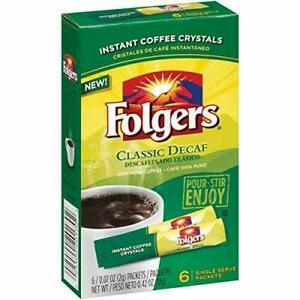 Folgers Decaf Classic Roast Instant Coffee Single-Serve Packets 4 pack