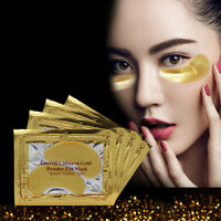 5 Pairs Gold Moisturizing Skin Care Gel Collagen EYE Hydrating Face Masks New