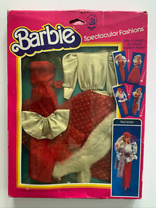 NRFB 1983 Superstar Barbie Spectacular Fashions - Mix N Match - Red Sizzle #7217