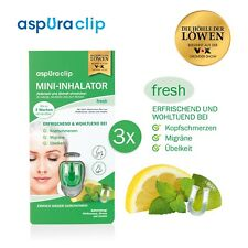 aspUraclip Mini-Inhalator aspura - 3x fresh ehemals aspira AspiraClip ätherisch