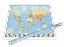 Weltkarte Poster Die Welt Riesenformat, Sonderauflage + 1 gratis Ü-Poster