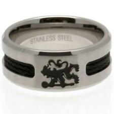 Official CHELSEA FC Stainless Steel Black Inlay RING