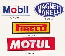 MAGNETI MARELLI MOBIL MOTUL PIRELLI Aufnäher Aufbügler Patch 4 Stück Racing F1