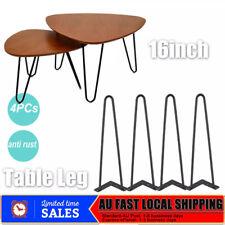 4x Hairpin Legs Table Legs Matte Black Sturdy Metal Legs 2 Lines 16inch AU