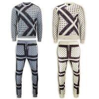 NEW Men Sweatsuit Joggers Sweatshirt Bandana Crewneck ALL SIZES Fleece Sweats