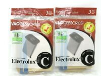 Electrolux Type C Canister Vacuum Bags Vaccessories 2 Count 3 Each 6 Bags Total