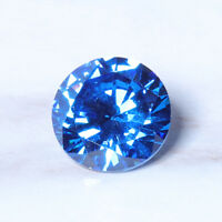 8mm 3.25ct Sea Blue Sapphire Round Faceted Cut Shape AAAAA VVS Loose Gemstone