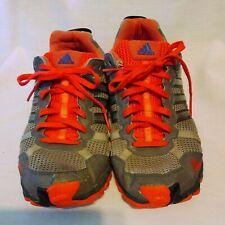 Addias Mens Shoes Sz 9.5  Running Basketball Tennis Dark Gray Orange Sneakers