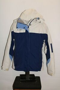 COLUMBIA Interchange Womens XL zip-out insulation hooded Snowboard/snow Jacket