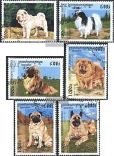 Kambodscha 1731-1736 (kompl.Ausg.) gestempelt 1997 Hunderassen