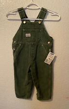 Vtg OshKosh 3T Vestbak Green Bib Overalls Made in USA New...