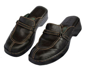 BORN Women's Size 8 Leather Mules Chocolate Dark Brown #3233 Slip-On Loafers