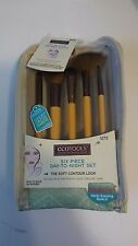 ECOTOOLS Six 6 Piece Day to Night Makeup Brush Set With 5 Brushes & Clutch Bag