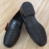 Men Orthopedic Diabetic Leather Lined MEMORY FOAM Loafer Moccasin Boat Shoe Six