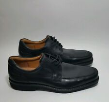 Ecco 47 Black Leather US 13 Oxford Men's Shoes Mint Condition