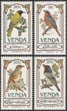 Venda 1985 Songbirds/Thrush/Barbet/Oriole/Chat/Song Birds/Nature 4v set (b1337)