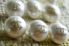 LA PAUSA Chanel buttons 6 pcs white & Crystal's  cc 18 mm