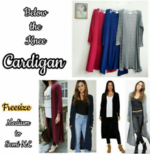 Long Cardigan (Full Length) - Red/Maroon