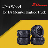 4Pcs ZD Racing 150mm Wheel Rim and Tires for 1/8 Traxxas Monster Bigfoot Truck