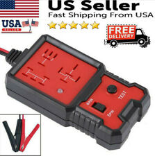 12V Electronic Automotive Relay Tester For Cars Auto Go Battery Checker USA
