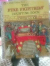 THE FIRE FIGHTERS COUNTING BOOK Little Golden Book 1983 *VGC