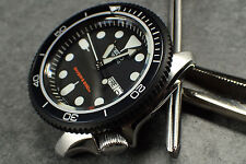 THE-S.COIN.90.ONE MATTE BLACK CUSTOM BEZEL F.SEIKO SKX007 7S26-020O DX.S-20-BB