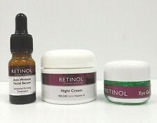 Skincare Cosmetics Retinol Anti-Wrinkle Facial Serum - Night Cream - Eye Gel