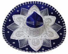 Youth Mexican Mariachi Hat Sombrero Charro Cinco de Mayo Royal Blue Silver