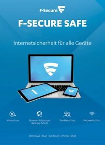 F-Secure SAFE 2021 3 Geräte 1Jahr | Internet Security für alle Geräte |DE-Lizenz