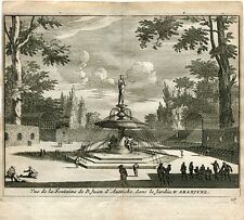 Vue de la Fontaine par d. Juan d'Austriche dans le Jardin d'Aranjuez par Van der