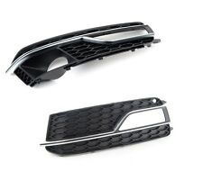 AUDI A5 S5 13-15 NEW GENUINE FRONT BUMPER FOG LIGHT GRILL PAIR LEFT AND RIGHT