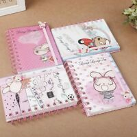 A6 Spiral Coil Cartoon Bind Personal Notebook Diary Journal Note Pad Book Memo