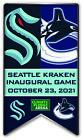 SEATTLE KRAKEN INAUGURAL GAME SOUVENIR PIN NHL BANNER STYLE VANCOUVER CANUCKS