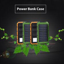 50000mAh Solar Panel Dual USB External Battery Power Bank Charger Case Shell ZPZ