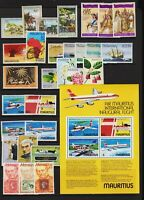 Mauritius - 8 mint commemorative sets, cat. $ 41.00