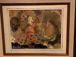BORIS VASSILOFF Russia Portraits People Oil On Board Sign  Framed 15x12.5 Inches