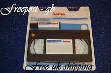 Qualité Hama VHS & S-vidéo VHS Wet & Dry Head Cleaner aussi nettoie Audio chefs