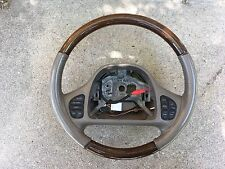 Wood Grain & Leather Steering Wheel Lincoln Town Car Fit 1998-2004 Tan Rare QF