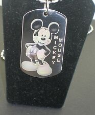 MICKEY MOUSE Dsiney Dog Tag Pendant Necklace
