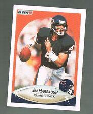 1990 fleer #293 JIM HARBAUGH  Bears / Michigan / 49ers Head Coach