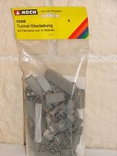 NOCH ( 53408 ) 10 SUPPORTS CATENAIRES SOUS TUNNEL  NEUF SOUS BLISTER  N 1/160