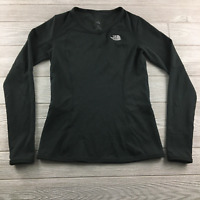 The North Face womens TNF Long Sleeve Tee T-shirt Black Base Layer Small Hiking