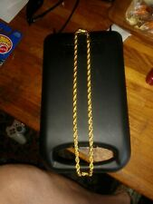 18 Carat Gold Plated Mans Rope Chain