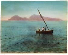 Esposito Unforgettable view of Capri from the sea Original photo 1890c L297