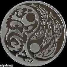 2015 1oz 999 Silver Coin w/Palladium Predator/Prey Grizzly/Salmon low COA.