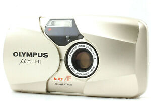 【Near Mint】 Olympus μ mju II Point & Shoot 35mm f2.8 Film Camera from JAPAN
