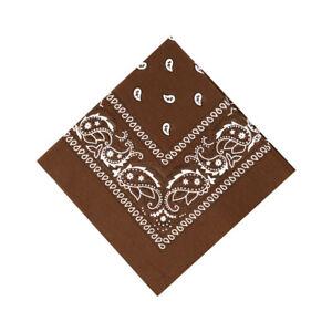 Bandana Paisley Print 100% Cotton Double-Sided Scarf Head Wrap Neck Headband